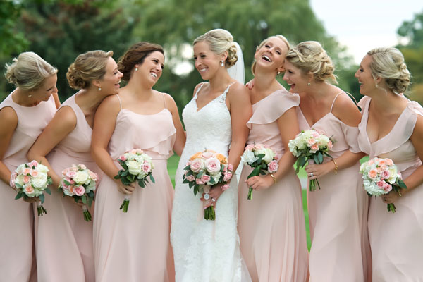 wedding bridal party salon